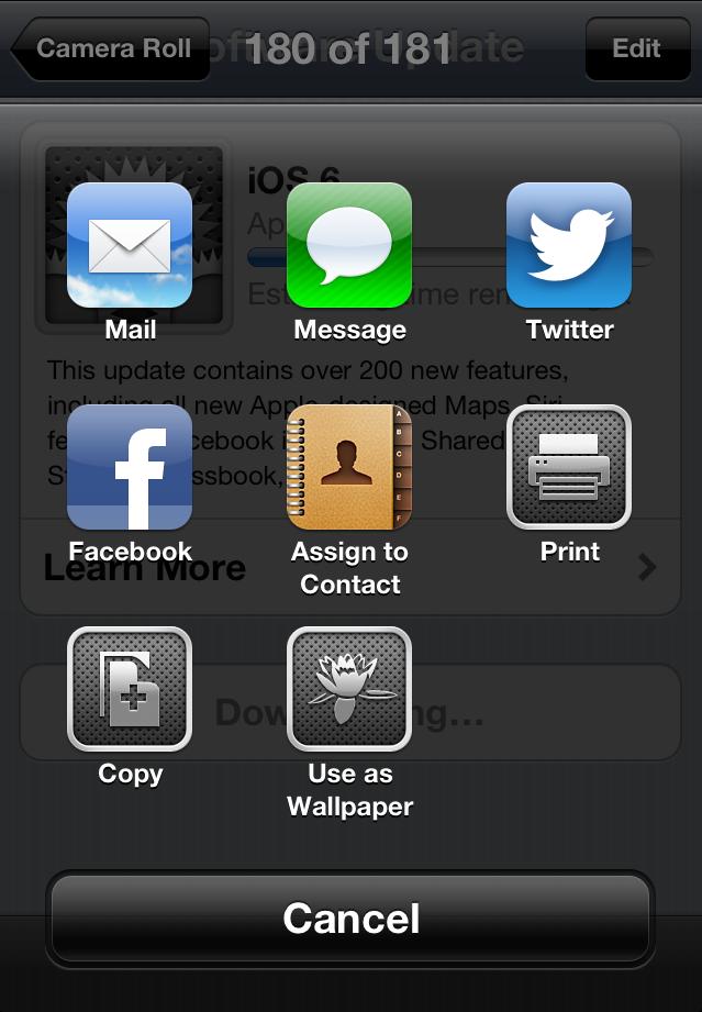 iOS6 Share