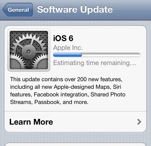 iOS6 Update