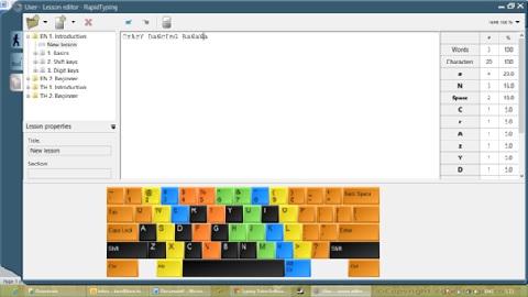 โปรแกรมฝึกพิมพ์ดีด Rapid Typing