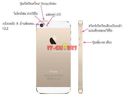 ส่วนประกอบของ iPhone 5S ด้านหลัง