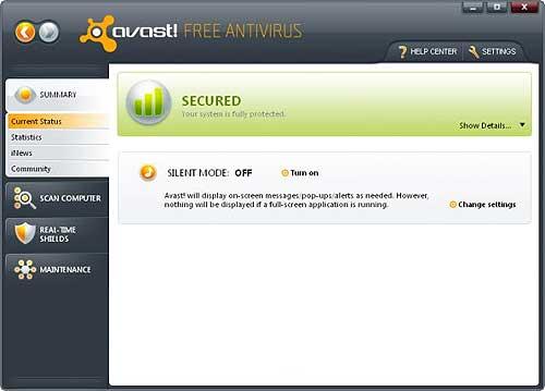 Avast! Free Antivirus v5