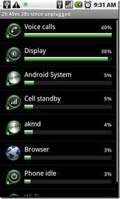 Battery Use Screen Android