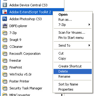 Delete Windows ShortCut