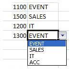 drop-down list Microsoft Excel