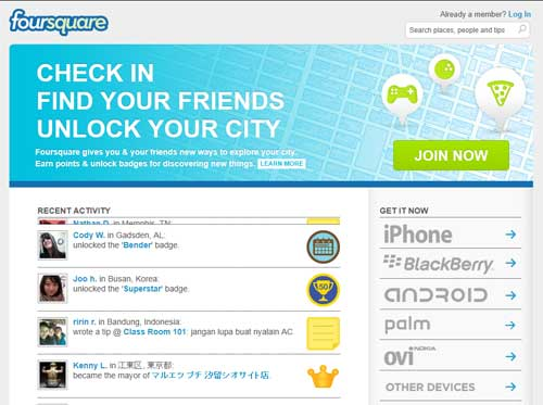 foursquare social network