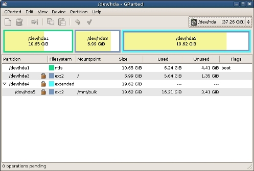 Gparted Partition Harddisk