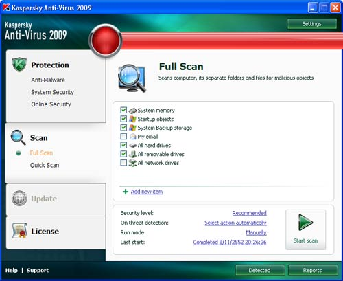 Scan Virus with Kaspersky