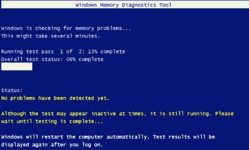Windows 7 Memory Diagnostic Tool