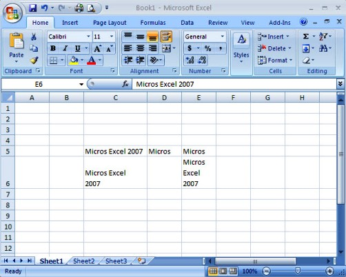 Multi-Line in Microsoft Excel