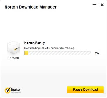 Norton Family - เริ่ม download