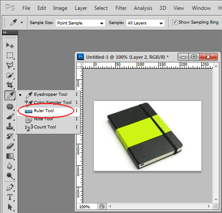 Ruler Tool Photoshop CS5
