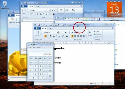 Shake Windows 7