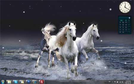Snow Desktop Screen Saver
