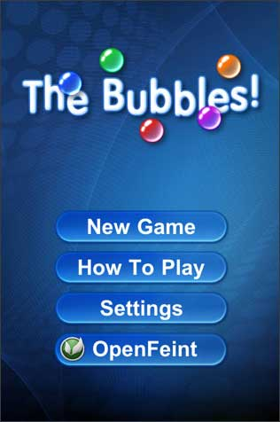 The Bubbles game for iPad