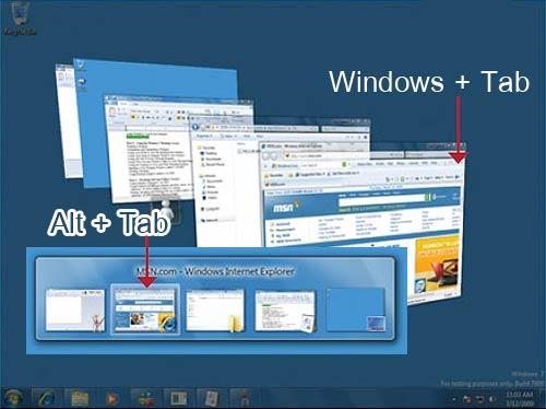 Windows Tab Areo