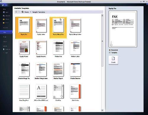 word 2010 templates