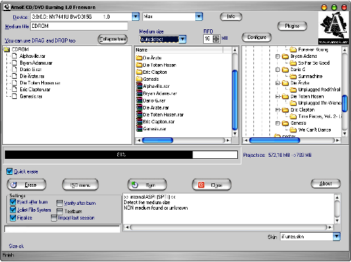 amok CD/DVD Burning freeware