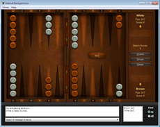 Internet Backgammon online game