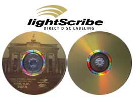 LightScribe Sample Logo and Photos