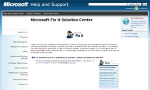 Microsoft Fit it Web Site