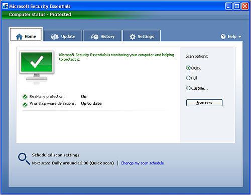 microsoft_security_essentials_home_screen