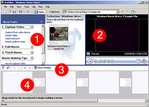 Movie Maker Main Screen