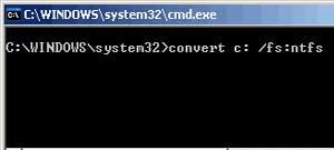 Convert FAT to NTFS