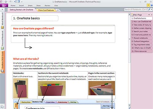 Microsoft Office 2010 Onenote Screen